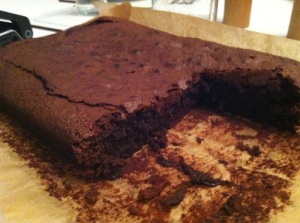 Cut Chocolate Brownies